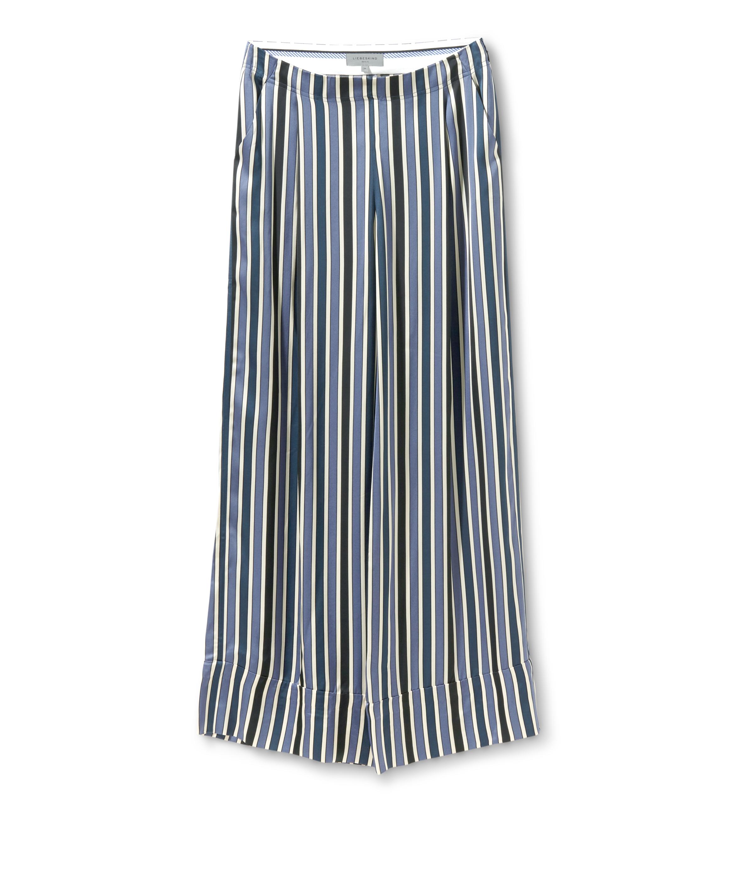 liebeskind berlin - Stoffhose aus Viskose, Blau, Größe 42