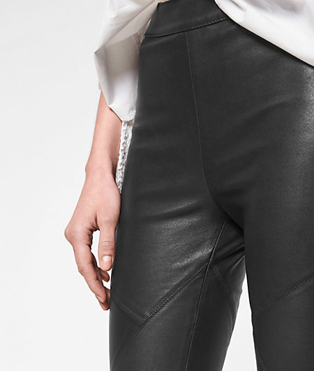 Skinny lambskin leather trousers from liebeskind
