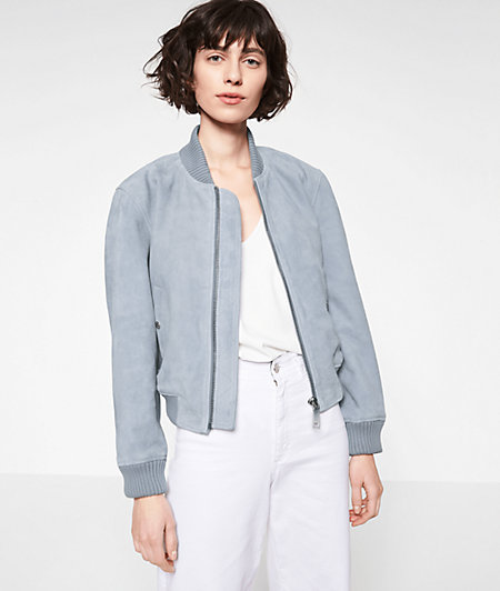 Suede bomber jacket from liebeskind