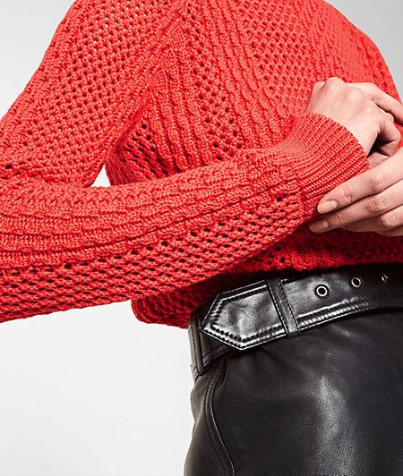 Pullover in Grobstrick-Optik