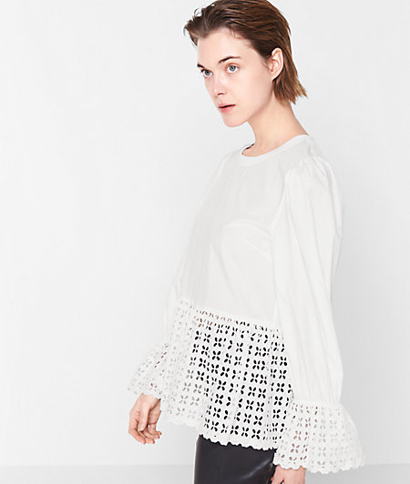 Overblouse with broderie anglaise from liebeskind
