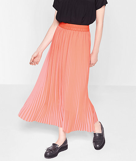 Two-tone pleated skirt from liebeskind