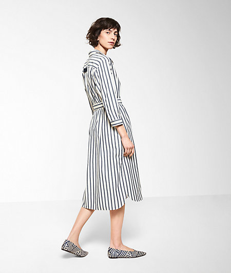 Cotton dress with stripes from liebeskind
