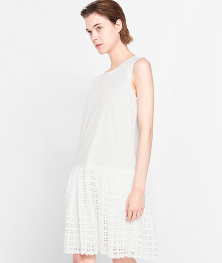Dress with broderie anglaise from liebeskind