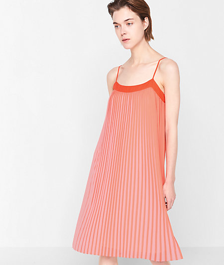 Two-tone pleated dress from liebeskind
