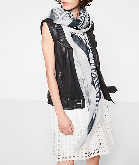Cotton scarf with an all-over print from liebeskind
