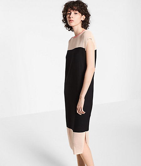 Knit dress with mesh inserts from liebeskind