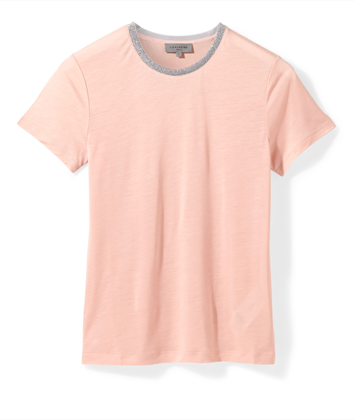 T-shirt with a sparkly neckline from liebeskind