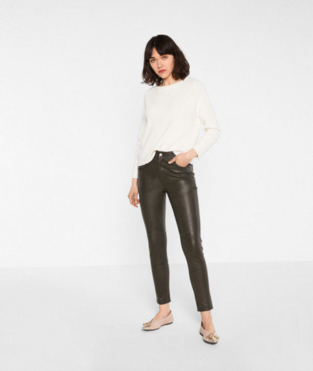 Lambskin leather trousers from liebeskind