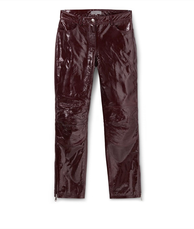 Hose aus Lackleder
