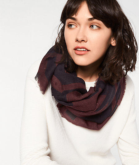 Scarf with an all-over print from liebeskind