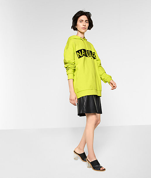 Oversize-Kapuzensweater mit Frontprint