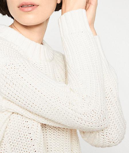 Grobstrickpullover mit Wolle
