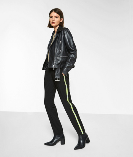 Pull-on trousers with reflective details from liebeskind