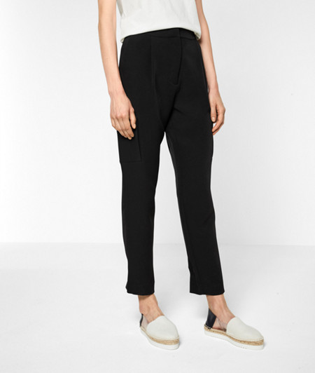 Waist-pleat trousers with cargo pockets from liebeskind