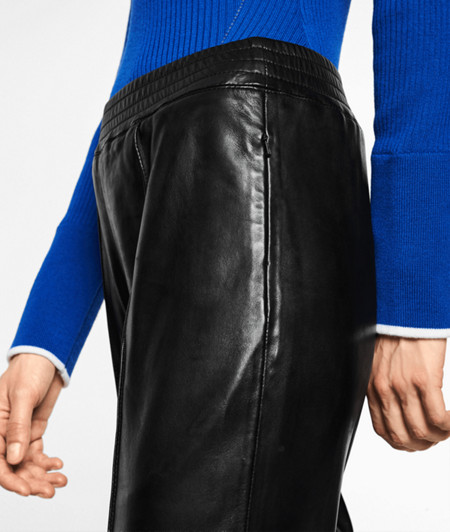 Lambskin leather tracksuit bottoms from liebeskind
