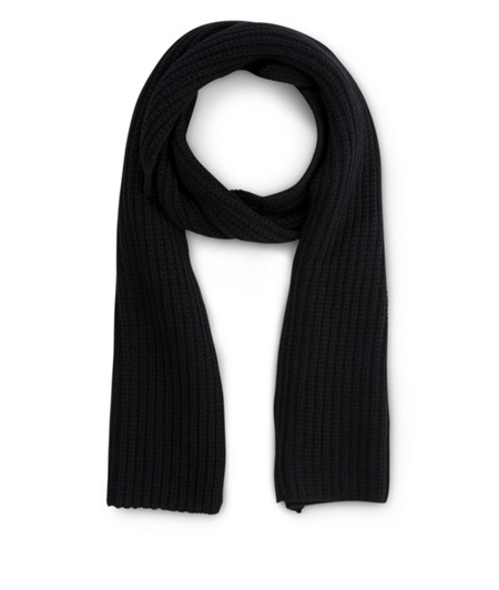 Knit scarf with fringing from liebeskind
