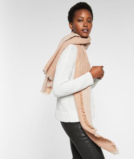 Écharpe tissée à teneur en laine de liebeskind