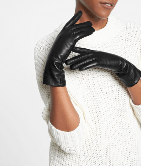 Soft leather gloves from liebeskind