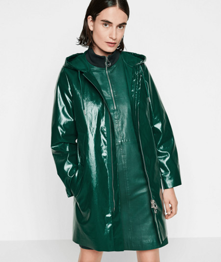 Short coat with a water-resistant coating from liebeskind