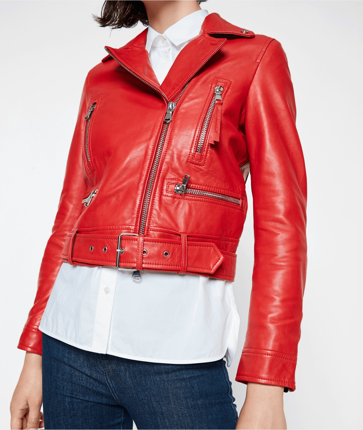 Lambskin leather biker jacket from liebeskind