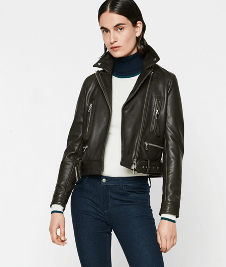 Cowhide leather biker jacket from liebeskind