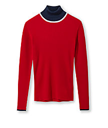 Polo neck wool jumper from liebeskind
