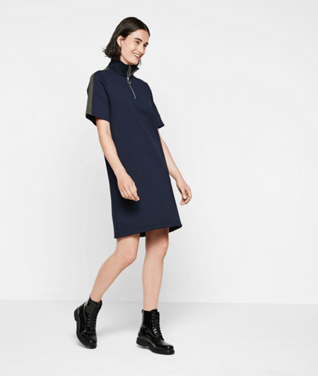 Oversized top with a neoprene finish from liebeskind