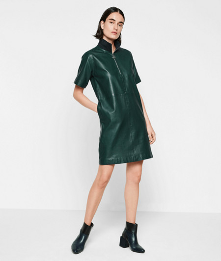 Short sleeve lambskin leather dress from liebeskind