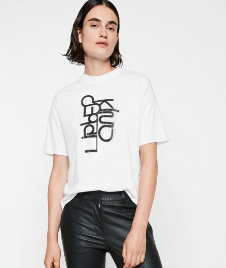 T-shirt with a logo print from liebeskind