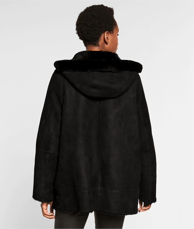 Mantel aus Schafsleder