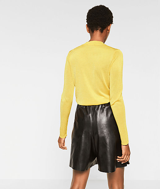 Polo neck jumper with colour blocking from liebeskind