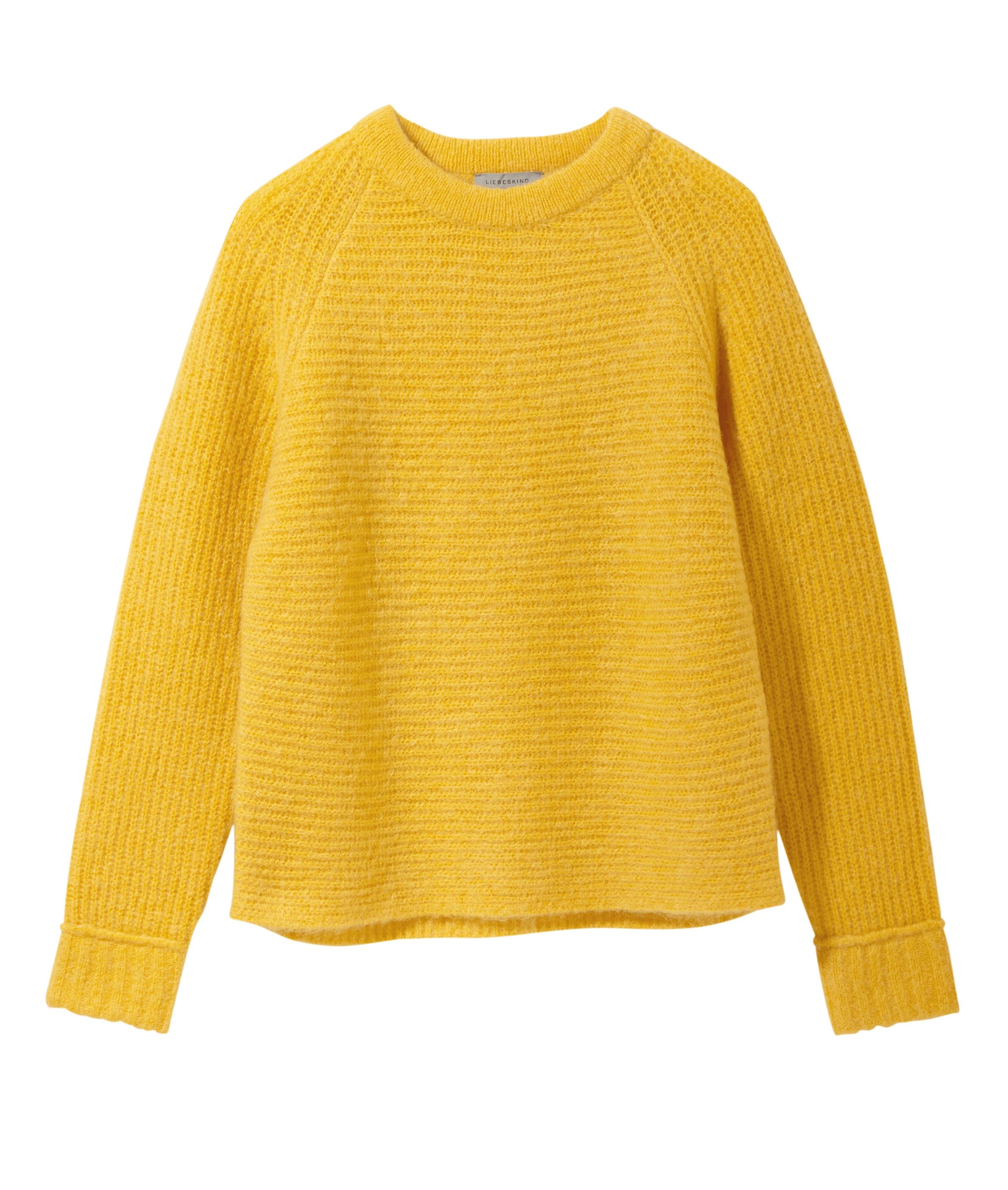 liebeskind berlin - Grobstrickpullover mit Wolle, Gelb, Größe XL
