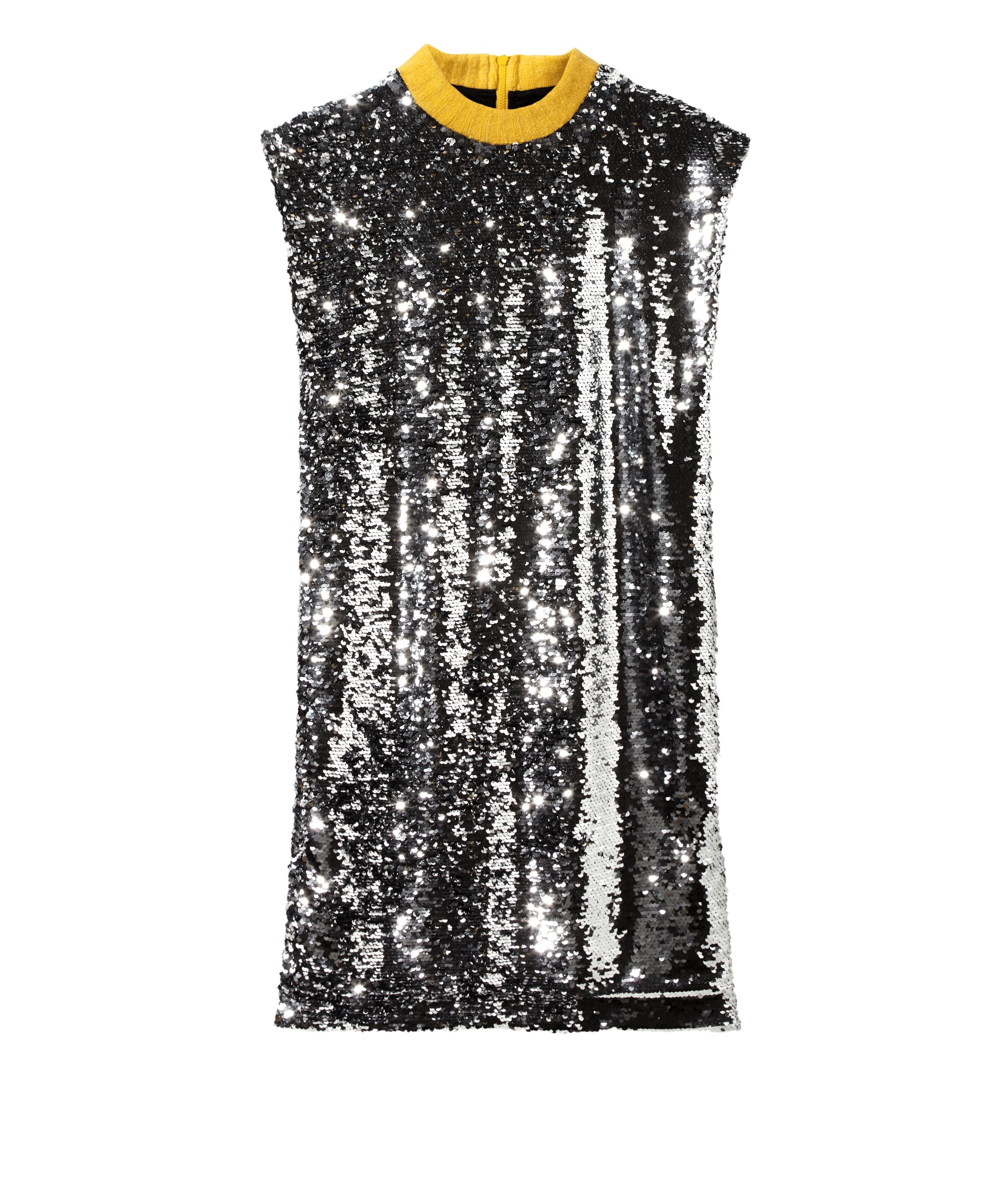 liebeskind berlin - Kleid mit Paillettenbesatz, Grau/Schwarz, Größe 34