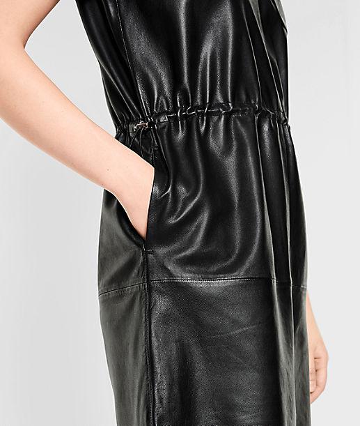 Lambskin leather dress from liebeskind