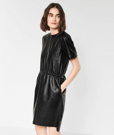 Lambskin leather dress from liebeskind