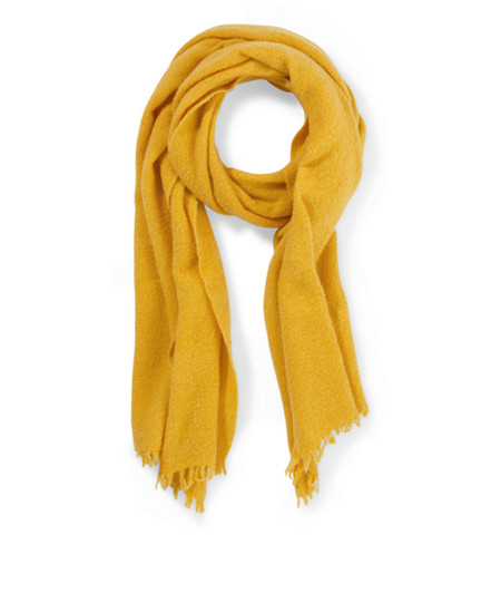 Wool scarf in a knit look with fringing from liebeskind