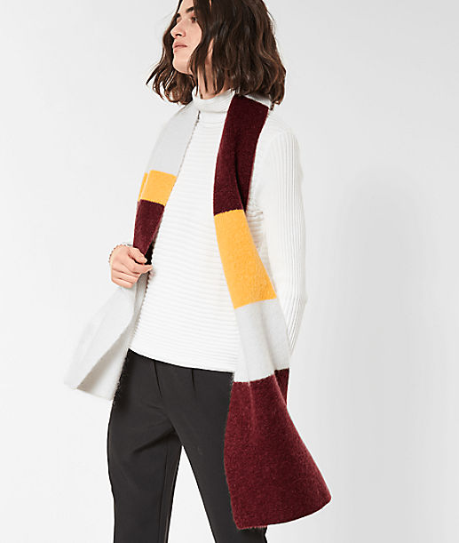 Scarf with colour blocking from liebeskind