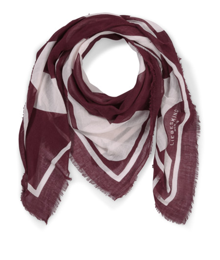 Scarf with an abstract logo motif from liebeskind