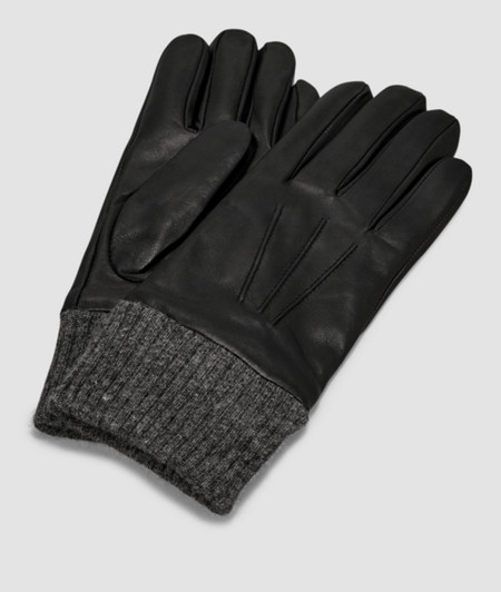 Gloves with chunky knit cuffs from liebeskind