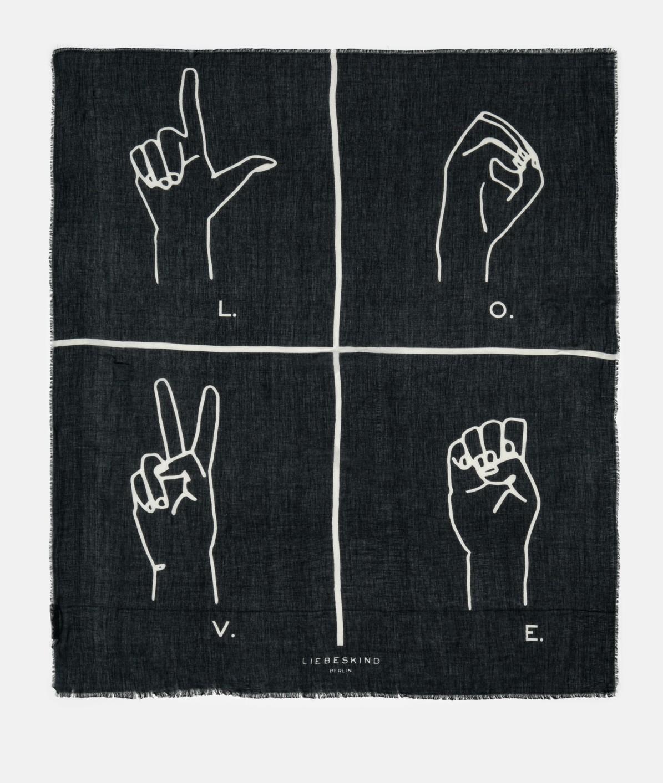 XXL-Tuch mit grafischem Print