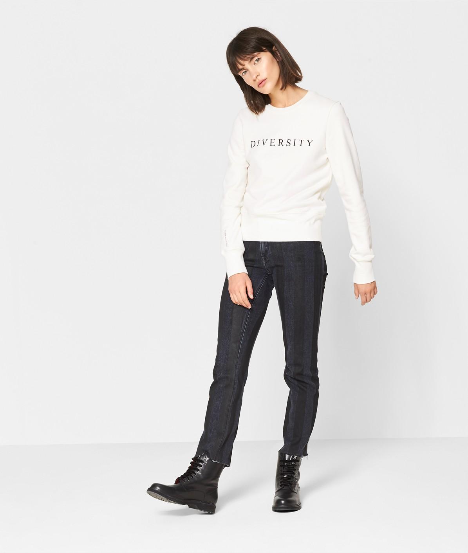 Sweatshirt mit Statementprint