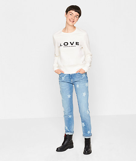 Sweatshirt with a statement print from liebeskind