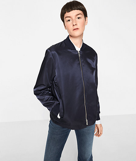 Bomber jacket with two-way zip from liebeskind