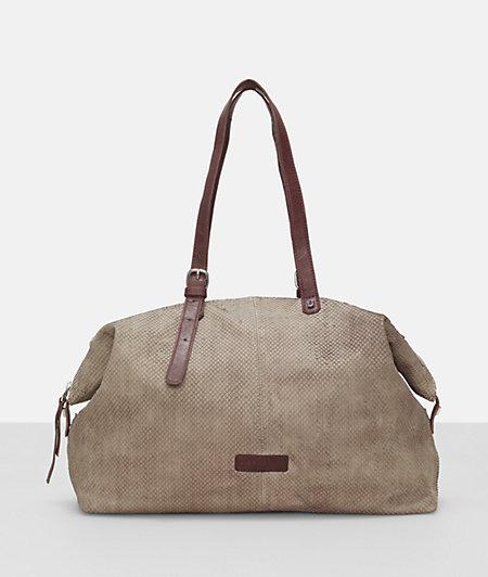 Shoulder bag with contrasting handles from liebeskind