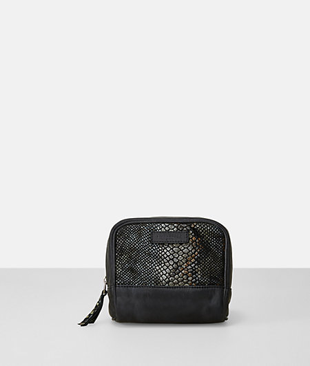 Leather snakeskin makeup bag from liebeskind