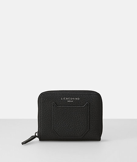 Pebbled leather french small zip wallet from liebeskind