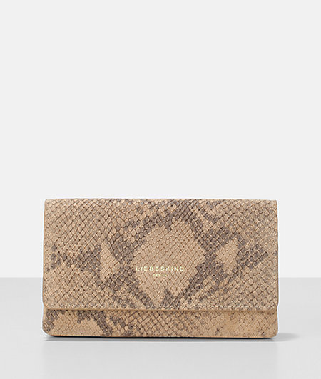 Snake embossed large clutch fold wallet from liebeskind