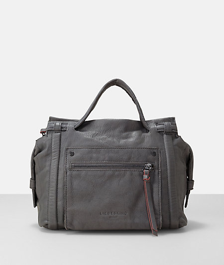 Leather sporty pocket satchel bag from liebeskind