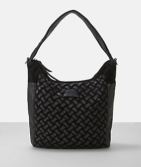 Suede leather woven hobo from liebeskind